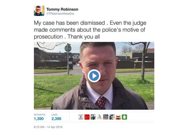 Tommy Robinson - thank you video