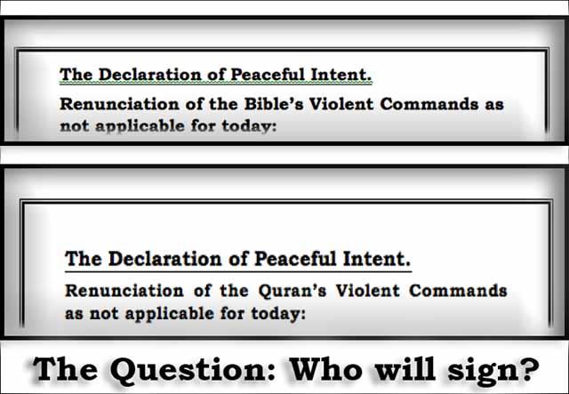 Declaration of Peaceful Intent
